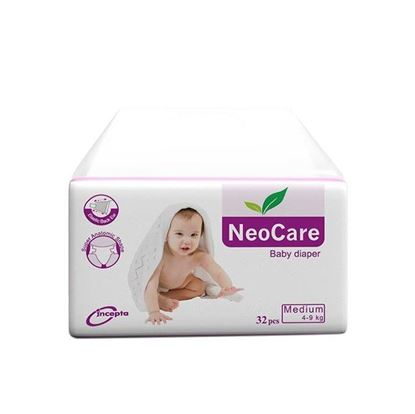 Picture of Neocare Belt System Baby Dry Diaper M (4-9 kg) - 32pcs