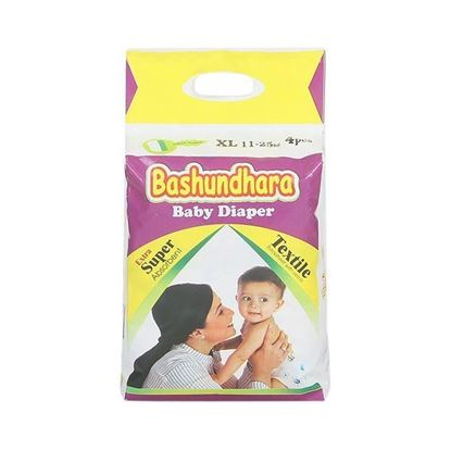 Picture of Bashundhara Baby Diaper Mini Series XL 11-25 Kg - 4Pcs
