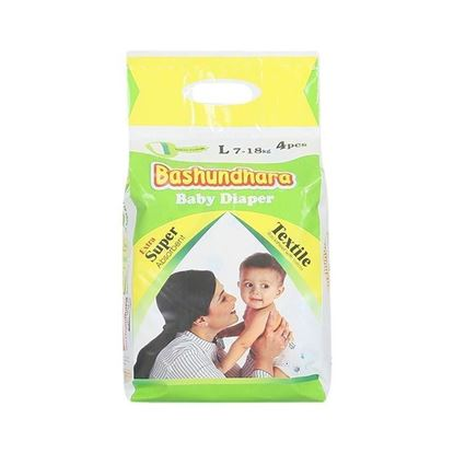 Picture of Bashundhara Baby Diaper Mini Series L 7-18 Kg - 4Pcs