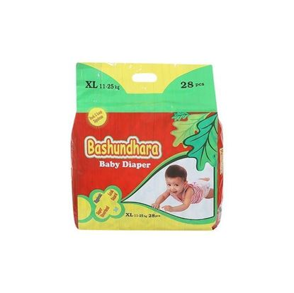 Picture of Bashundhara Baby Diaper Standard Series XL 11-25 Kg - 28Pcs