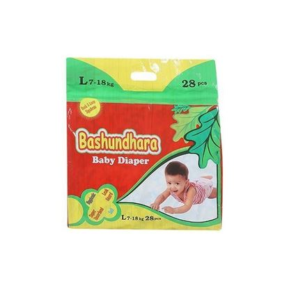 Picture of Bashundhara Baby Diaper Standard Series L 7-18 Kg - 28Pcs