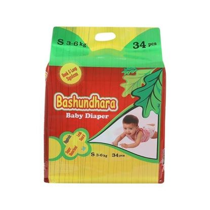 Picture of Bashundhara Baby Diaper Standard Series S 3-6 Kg - 34Pcs