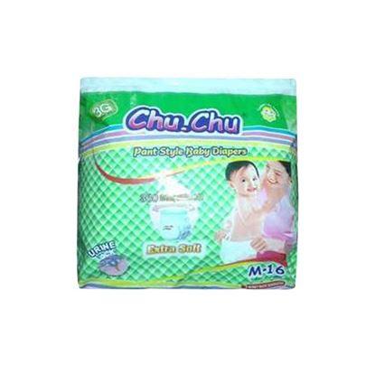 Picture of Chu Chu Pant System Baby Diaper M (6-12 Kg) - 16 Pcs