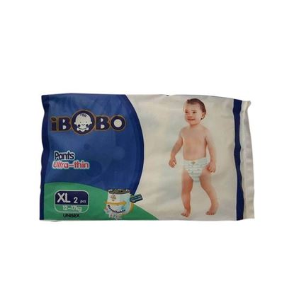 Picture of IBOBO Super Absorbency and Ultra Thin Baby Diaper XL (12-17 KG) - 2 Pcs