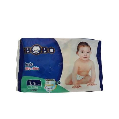 Picture of IBOBO Super Absorbency and Ultra Thin Baby Diaper L (9-14 KG) - 3 Pcs