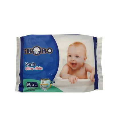 Picture of IBOBO Super Absorbency and Ultra Thin Baby Diaper M (7-12 KG) - 3 Pcs