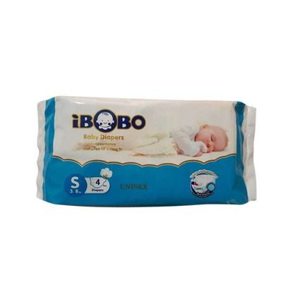 Picture of IBOBO Super Absorbency and Ultra Thin Baby Belt Diaper S (3-8 KG) - 4 Pcs