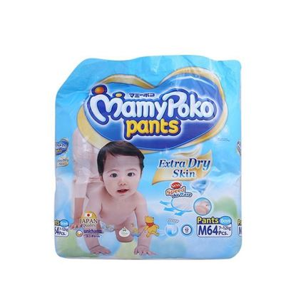 Picture of MamyPoko Pant Style Extra Dry Skin Baby Diaper M(7-12)kg - 64Pcs