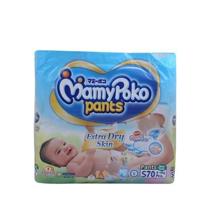 Picture of MamyPoko Pant Style Extra Dry Skin Baby Diaper S(4-8)kg - 70Pcs