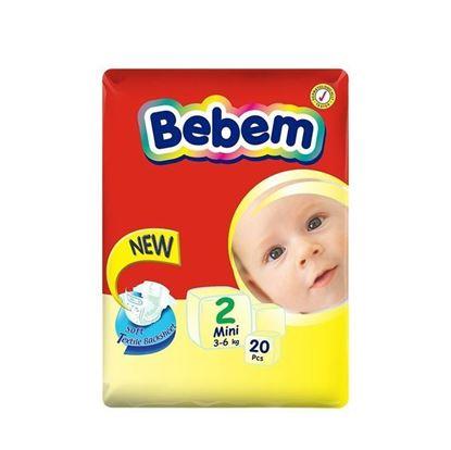 Picture of Bebem Eco Mini Belt Diaper 3-6 Kg - 20 Pcs