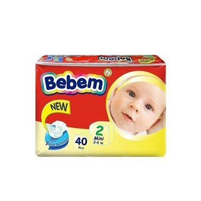 Picture of Bebem Twin Mini Belt Diaper 3-6 Kg - 40 Pcs
