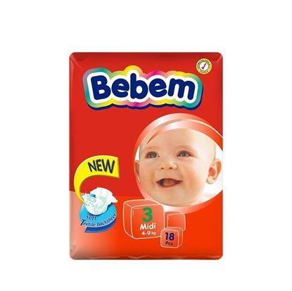 Picture of Bebem Eco Midi Belt Diaper 4-9 Kg - 18 Pcs
