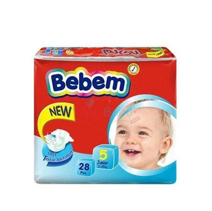 Picture of Bebem Diaper Baby Diaper 5 juniors (11-25)kg - 28 Pcs