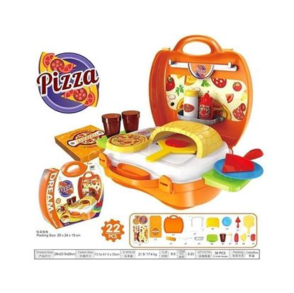 Picture of  Pizza Suitcase Toy - Multi-color