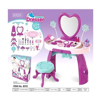 Picture of Baby Dressing Table Toy - White And Pink