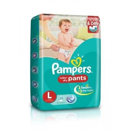 Picture of Pampers Dry Pants - Large 52 Pcs