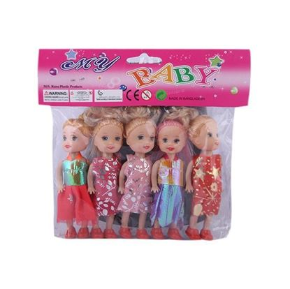 Picture of Choice Cosmetics 5 pcs Doll - Multi Color
