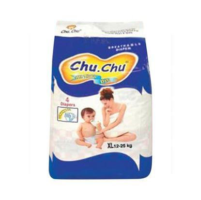 Picture of  Chu Chu Belt System Baby Diaper XL (12-25 Kg) - 4 Pcs