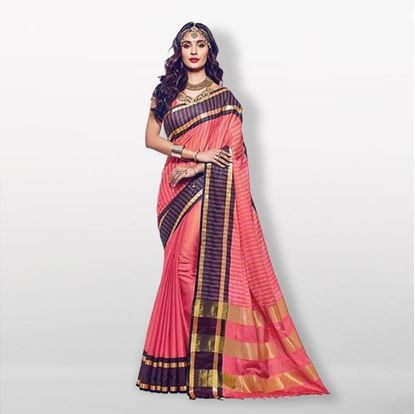 Picture of  Raka Fashion Multicolor Silk Katan Saree For Women