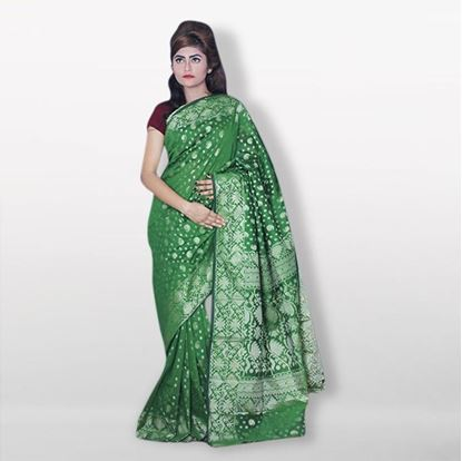 Picture of  Raka fashion Green Silk Katan Sharee