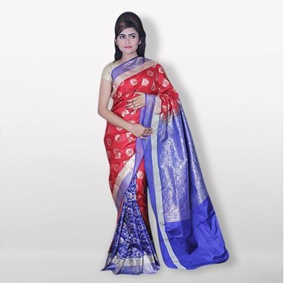 Picture of   Raka fashion Multicolor Silk Katan Sharee
