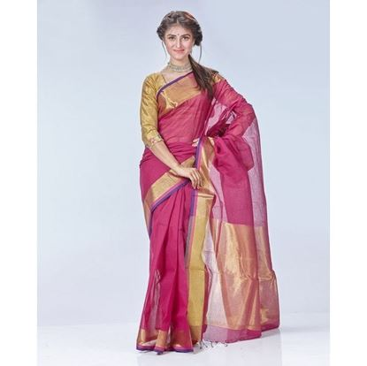Picture of  Cotton Loom Casual Sharee - Deep Pink