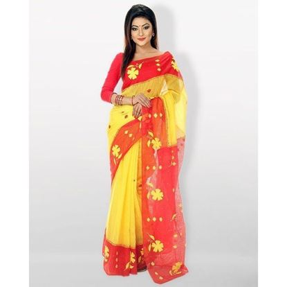 Picture of Cotton Loom Casual Sharee - Yellow