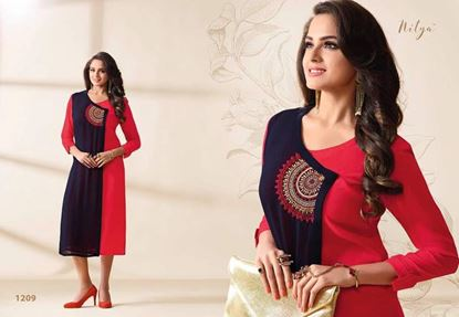 Picture of Original Indian kurti Black & Red