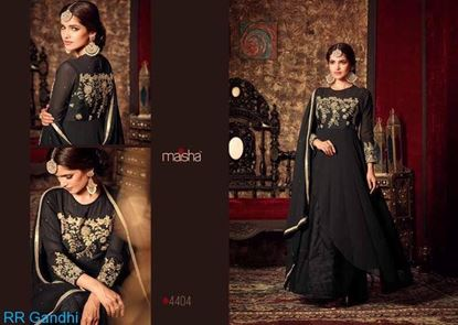 Picture of Masha Brand Original Indian Gown Black