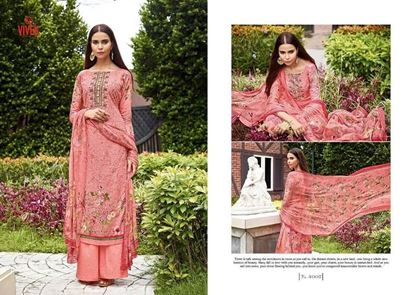 Picture of Vivek Fashion Brand Original Indian Dress Dusty Pink