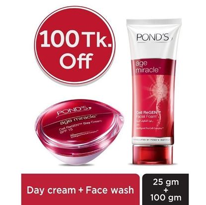 Picture of POND's Age Miracle Face Wash And Day Cream Combo