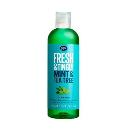 Picture of Boots Fresh & Tingly Mint & Tea Tree Shampoo - 500ml