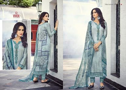 Picture of Vivek Fashion Brand Original Indian Dress Grey