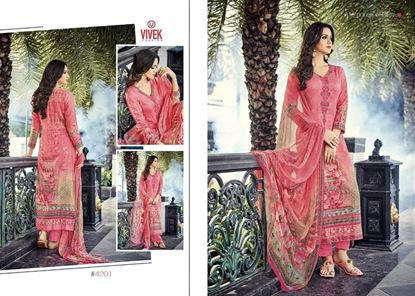 Picture of Vivek Fashion Brand Original Indian Dress Mix And pink