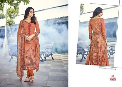 Picture of Vivek Fashion Brand Original Indian Dress Orange