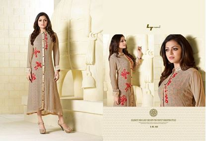 Picture of Original Indian kurti Brown & Red