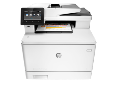 Picture of HP LaserJet Pro M477fdw Multi-Function Color Laser Printer - White
