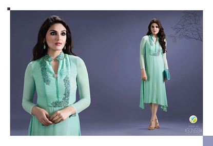 Picture of Original Indian kurti VN Jewwel Turquoise
