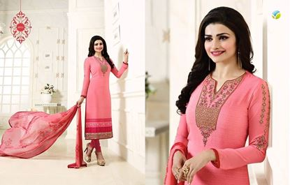 Picture of Vipul Original Indian Dress Dusty Rose