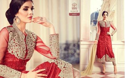 Picture of Mohini Glamour Original Indian Dress Red