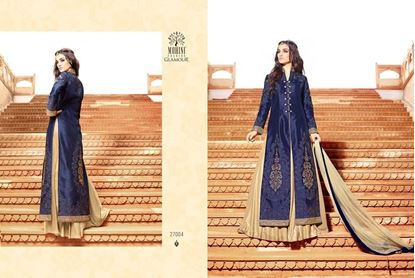 Picture of Mohini Glamour Original Indian Gown BlueAnd Cream