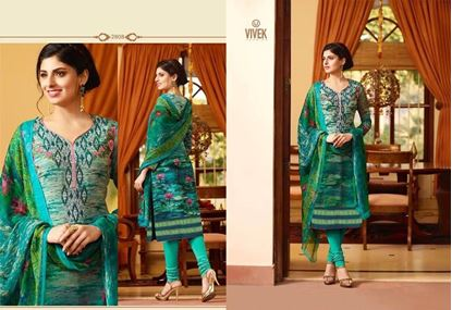 Picture of Vivek Fashion Brand Original Indian Dress Green