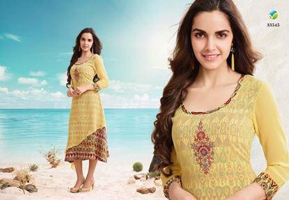 Picture of Vipul Original Indian Kurti Yellow