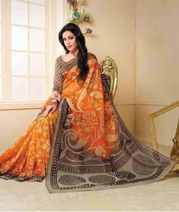 Picture of Original Indian Cota Saree Orange