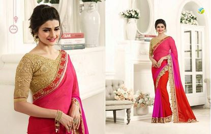 Picture of  Indian Georgette Saree Pink
