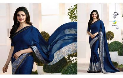 Picture of Original Indian Pure Satin Georgette Saree