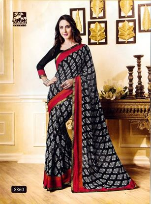 Picture of ORIGINAL INDIAN GEORGETTE SAREE Black