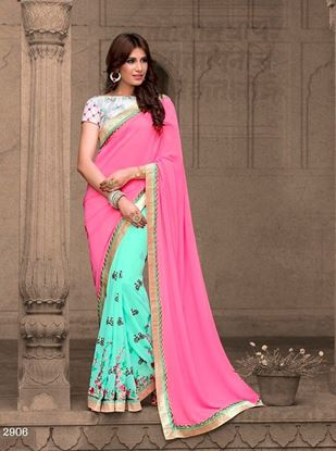 Picture of Original INDIAN Pure Soft Georgette Saree
