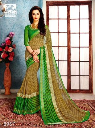 Picture of Original Indian Pure  Georgette Saree