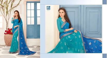Picture of ORIGINAL INDIAN High Quality PURE GEORGETTE SAREE